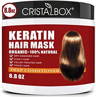 ماسک موی کراتین ، ریشه مو 5 ثانیه ای در ترمیم آسیب دیدگی مو ، 8.8OZ ماسک مو برای موهای خشک آسیب دیده ، ماسک درمان مو ، تونیک مو کراتین
