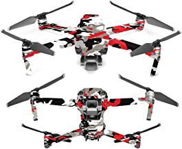 MightySkins Skin Compatible with DJI Mavic 2 Pro or Zoom - Red Camo | Protective, Durable, and Unique Vinyl Decal wrap Cover | Easy to Apply, Remove, and Change Styles | Made in The USA