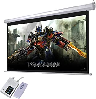 "Yescom 92"" 16:9 Electric Motorized Projector Screen Auto with Remote Control Home Classroom Meeting Room Bar"
