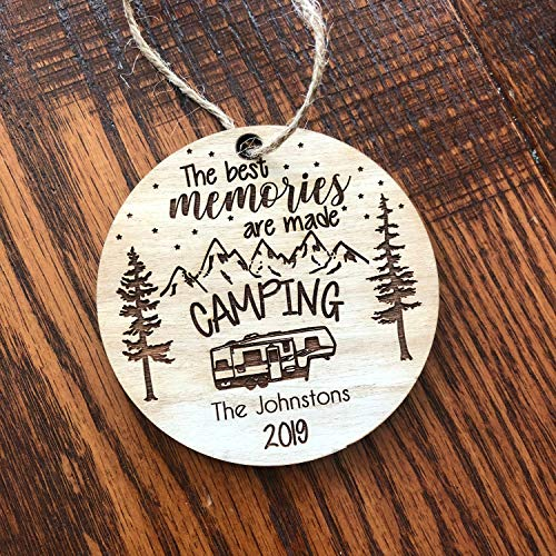 Christmas ornament Happy Camper Toy Hauler Christmas Ornament Travel Personalized Gift Camper decoration camping gift 5th Wheel