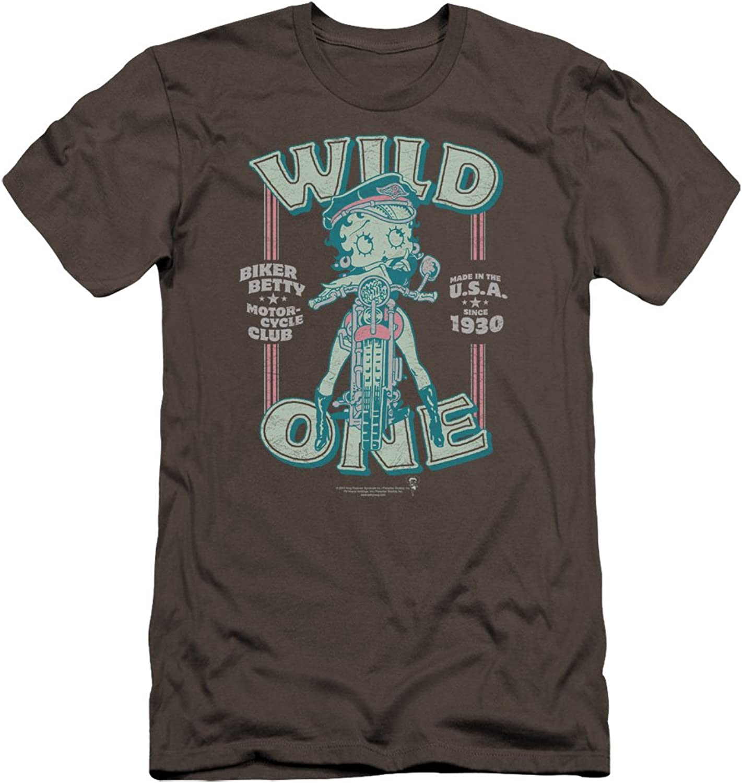 Betty Boop  Mens Wild One Premium Slim Fit TShirt