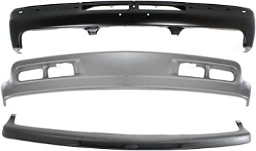 Bumper Kit Compatible with CHEVROLET SILVERADO 1999-2002/Tahoe 2000-2004 Front Set of 3 With Valance and Filler
