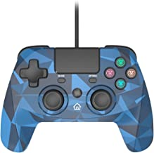 Snakebyte Gamepad S - Wired PS4 Controller with 3M Cable - Blue Camo - PlayStation 4