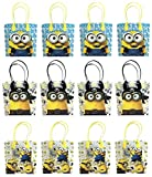12pcs Despicable Me Minions Party Favor Supplies Goody Loot Gift Favor Bags