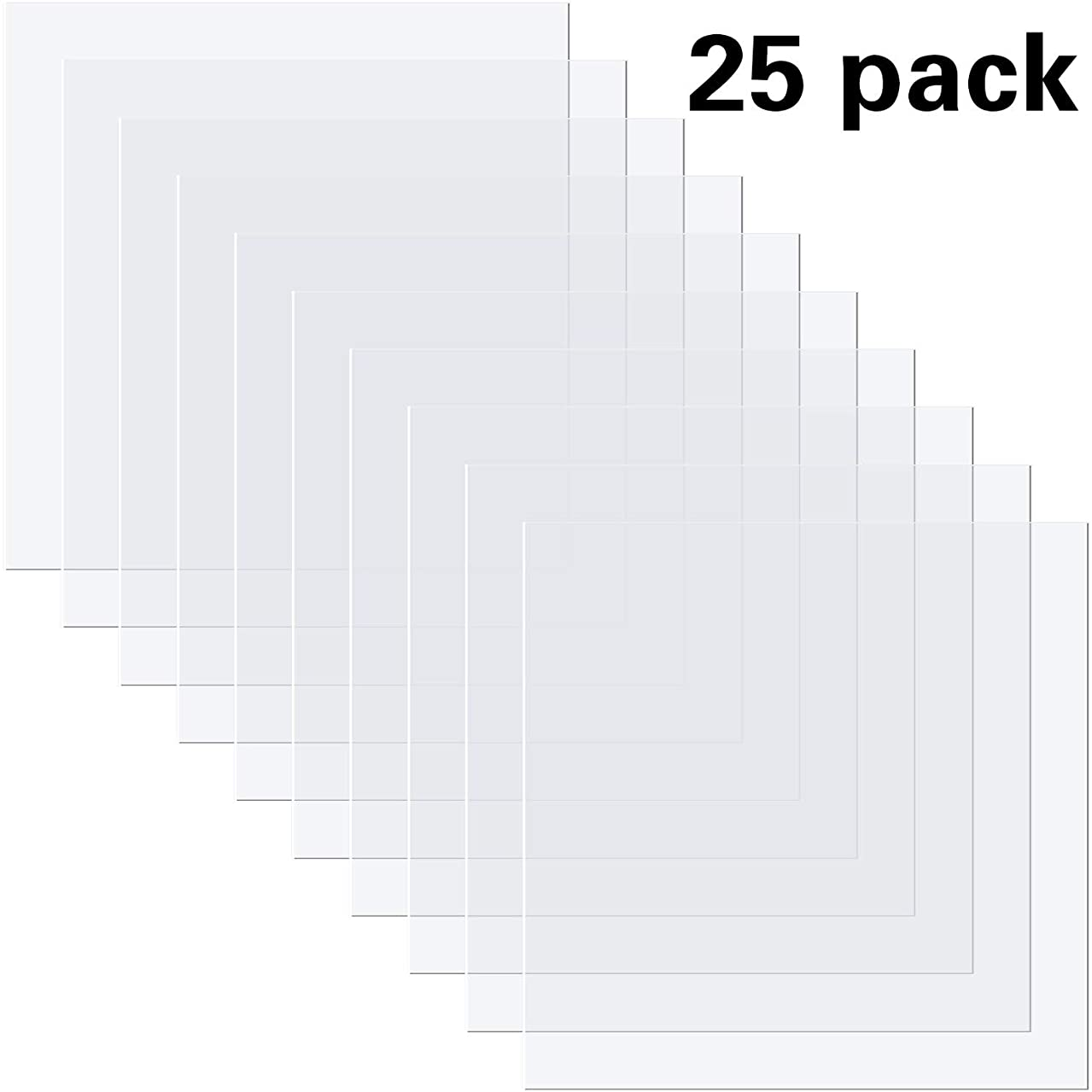 25 Pieces 4 Mil Blank Stencil Material Blank Stencil Sheets, 12 x 12 Inches