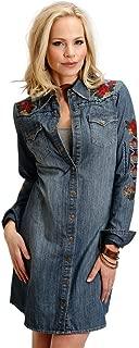 Stetson Western Dress Womens L/S Denim Snap Blue 11-057-0594-7031 BU