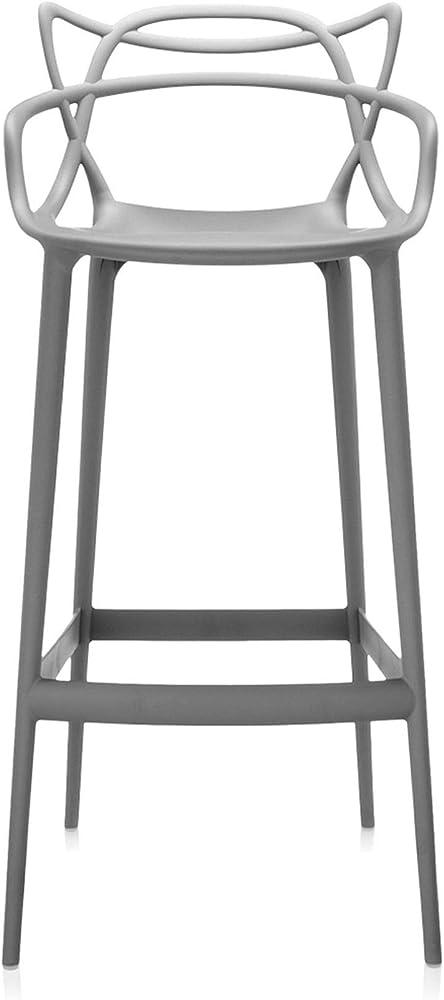 Kartell masters stool, sgabello in polipropilene modificato colorato in massa e trattamento effetto soft touch 5868/07