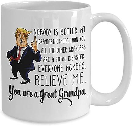 7850f2e4a59 AliceHitMood Donald Trump Fathers Day Coffee Mug Funny Mugs Cup You are a  Great Grandpa Birthday