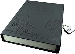 Vintage Diary Notebook Journal Notepad Hard Cover With Code Lock Black
