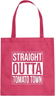 Indica Plateau Straight Outta Tomato Town Cotton Canvas Tote Bag