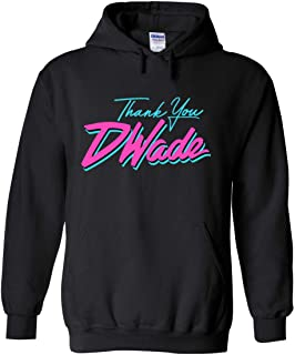 PROSPECT SHIRTS Black Miami D Wade Thank You Hooded Sweatshirt