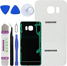 LUVSS New Back Glass Replacement for [Samsung Galaxy S6 Edge Plus] G928 (All Carriers) Rear Cover Glass Panel Case Housing with Adhesive Preinstalled Repair Part (White)