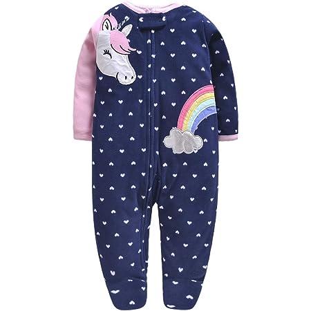 Bebé Mameluco Fleece Mono Manga Larga Bodys Linda Pijamas Pelele 0-3 Meses