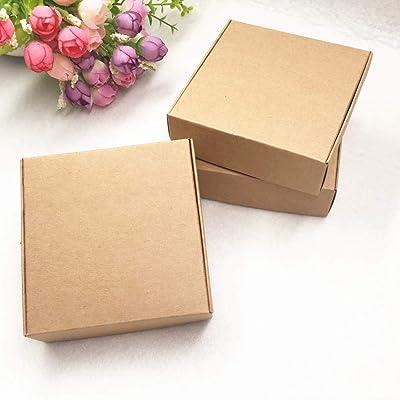 Ranggrgt 30Pcs/Lot 5 Size Kraft Paper Aircraft Brown Handmade Soap Packaging Boxes,DIY