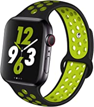 OriBear Compatible for Apple Watch Band 44mm 42mm 40mm 38mm, Breathable Sporty for iWatch Bands Series 5/4/3/2/1, Watch Nike+, Various Styles and Colors for Women and Men