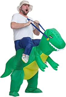 Inflatable Dinosaur Rider T-REX Costume Halloween Costume for Adults and Kids Inflatable Costumes Cosplay Party Dress Up