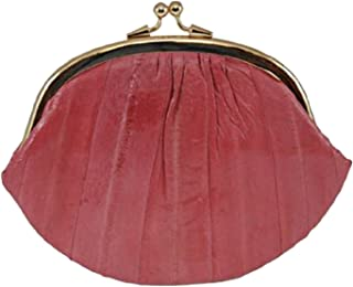 New Double EEL Skin Change Purse Pink #E10-BIG