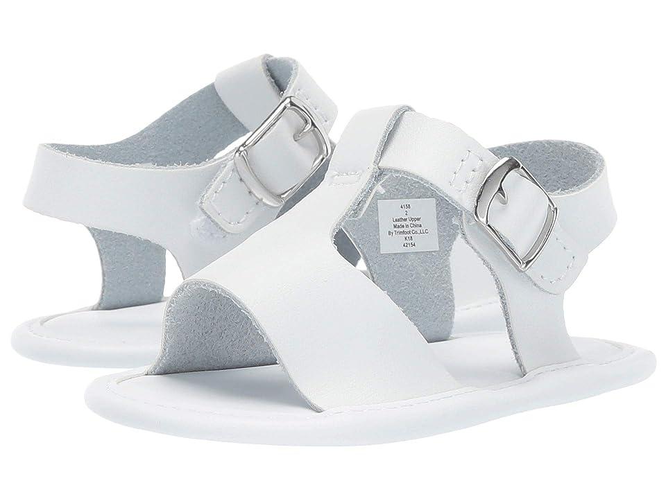Baby Deer Leather T-Strap Sandal Waddle (Infant) (White) Girl