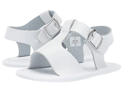 Baby Deer Leather T-Strap Sandal Waddle (Infant) (White) Girl