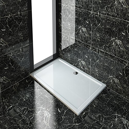ELEGANT 1500 x 900 mm Rectangular Stone Shower Tray + Waste Trap