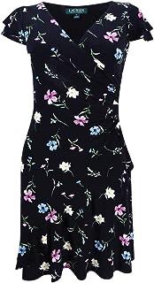 2c65851c30b8d Lauren by Ralph Lauren Women s Printed Jersey Surplice Dress (2P