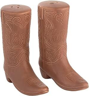 John Wayne Boots Sculpted Ceramic Salt & Pepper Set