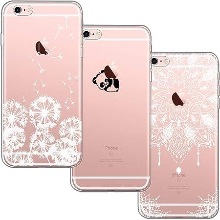 [3-Pièces] Coque iPhone 6, Coque iPhone 6S, Blossom 01 Ultra Mince Cute Motif Premium TPU Souple Etui de Protection pour iPhone 6 / 6S - Pissenlit et ...