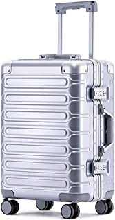 Aluminum Frame Spinner Luggage TSA Lock Hard Case Suitcase 24 Inch Silver