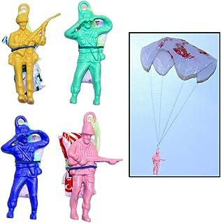"24 New Army Parachute Men Parachutists 2.25/"" Toy Soldiers Multicolor Party Favor"