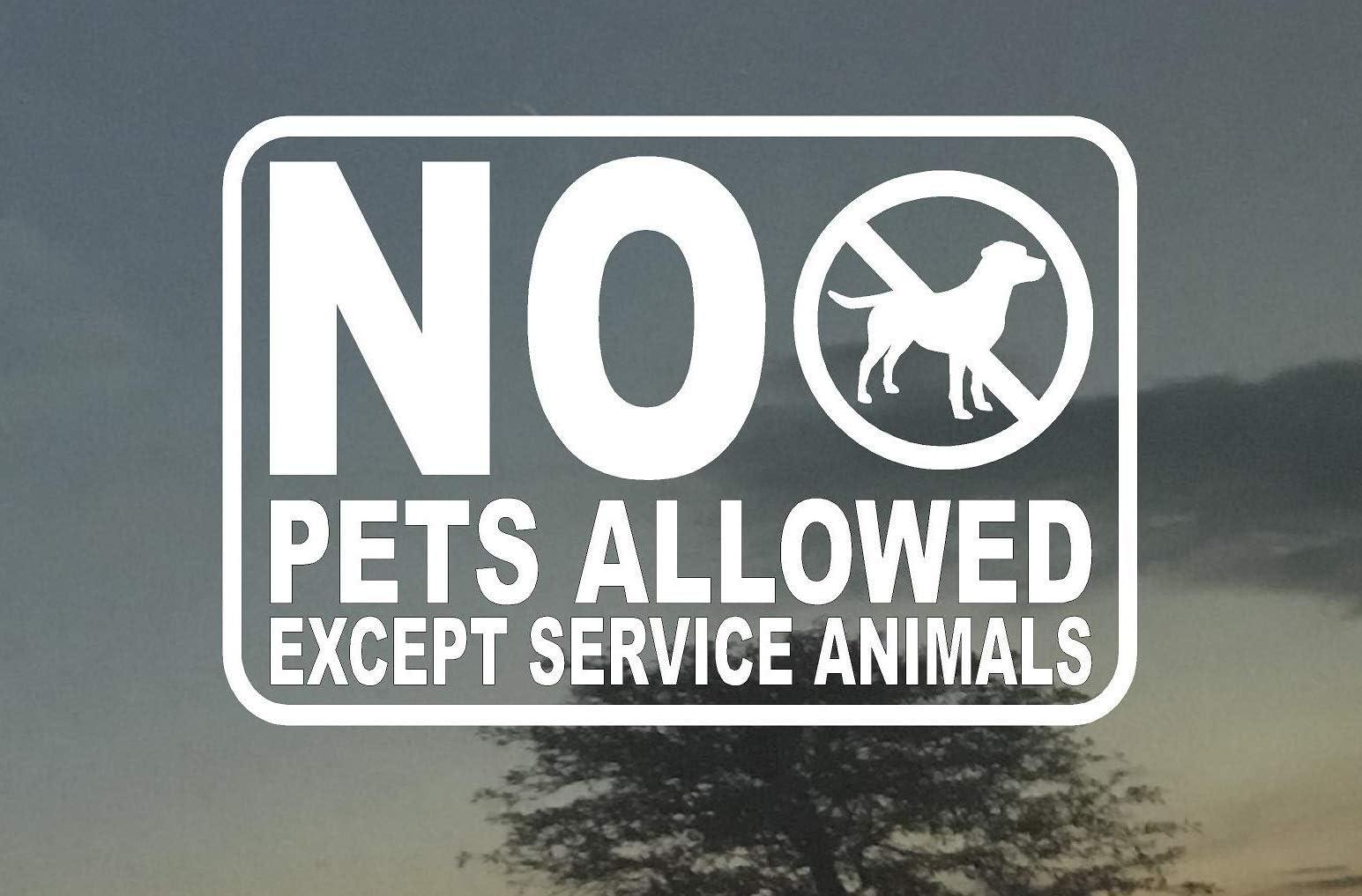 NO PETS ALLOWED Vinyl Decal Sign Sticker Business Store or Office Window Door