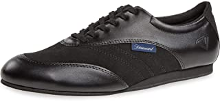Diamant Heren dans sneakers 191-425-380-V - leder / microvezel zwart - 1,5 cm sleehak - VarioSpin zool - Made in Germany