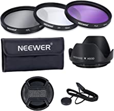 Neewer  52MM Professional Lens Filter Accessory Kit for NIKON D7100 D7000 D5200 D5100 D5000 D3300 D3200 D3100 D3000 D90 D80 DSLR Cameras  Kit includes   1 52MM Filter Kit  UV  CPL  FLD   1 Tulip Lens Hood  1 Snap-on Lens Cap  1 Cap Keeper Leash  1