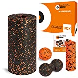 Blackroll Orange STANDARD ORANGE-Box - Faszienrollen-Set mit Faszienrolle (Standard), Mini Massagerolle, Massageball & Twinball -