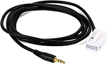 Mercedes Benz Audio Auxiliary Input male Cable, Hain 3.5mm Aux in Adapter for MB W203 AC289