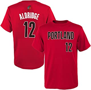 Outerstuff Lamarcus Aldridge NBA Portland Trail Blazers Red Jersey T-Shirt Youth (S-XL)
