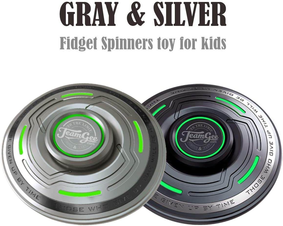 Teamgee Fidget Spinner,1 PCS Fidget Spinners for Kids Cheap Spinners Toys with Luminous Light Stress Relief Spinners for Kids ADHD Fidget Toys Spinner Metal