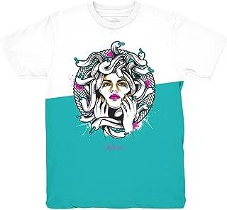 South Beach 8 Medusa Split Shirt to Match Jordan 8 South Beach Sneakers