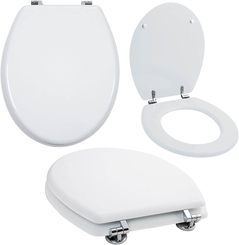 Grafner MDF WC Sitz viele schne Motive zur Auswahl - stabile Qualitt - einfache Monatge WC Deckel Klobrille (Pure Weiß)