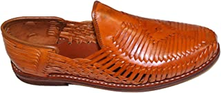 Genuine leather quality handmade mexican huraches sandal Cognac