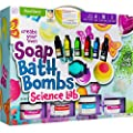 Soap & Bath Bomb Making Kit for Kids - 3-in-1 Spa Science Kits For Kids : Complete Soap Making Kit & Make Your Own Bath Bombs, Soap & Bath Scrubs : Kids Science Kit For Kids - Gift for Girls and Boys