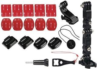 (Twin-happiness) ヘルメット カメラ マウント ホルダー アクセサリー セット アクションカメラ Gopro対応 (ヘルメットマウントセット)