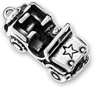 Sterling Silver 7 4.5mm Charm Bracelet With Attached MAINE State Map Outline Word Charm