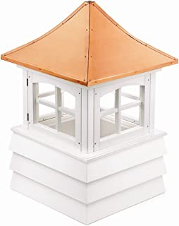 Good Directions 2122GV Guilford Window Cupola with Pagoda Style Copper Roof and Vinyl Shiplap Base, 22-Inch Square 32-Inch...