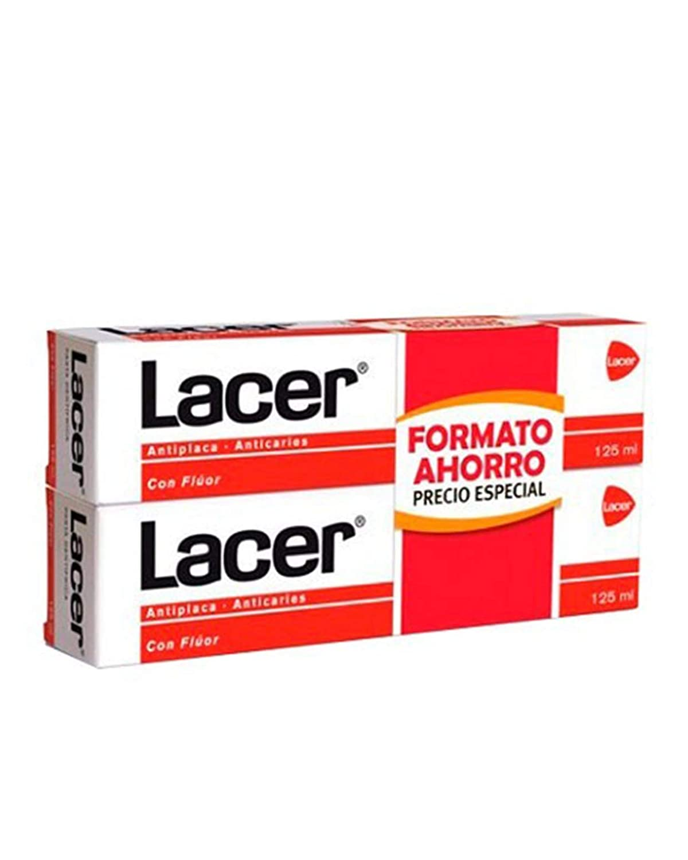 LACER Pasta dental con Fluor DUPLO 2x125mL