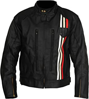 Leather Factory Triumph Retro Rider Motorcycle Black Cafe Racer Leather Jackets Men's