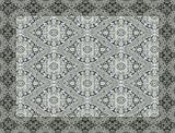 Vilber New Classic Damasco Alfombra, Vinilo, Gris, 153x200x0.2cm