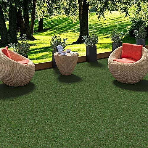 Snapstyle Kingston - Alfombra de césped Artificial - para Jardín, Terraza, Balcón - Verde Mixto - 13 tamaños