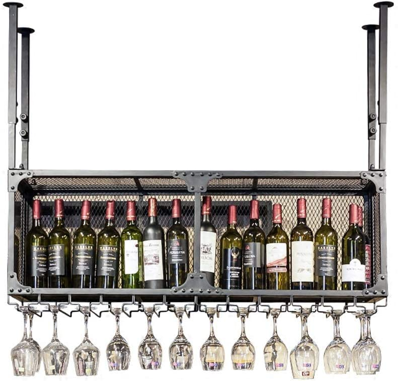 Import Wine Rack PeaceipUS Double Wrought Decoration Iron Free shipping Bar Hanging B