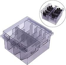 12 17.5 41 cm Bandeja extra/íble transparente y organizador para el hogar con rieles y manijas extensibles Caja de almacenamiento para refrigerador