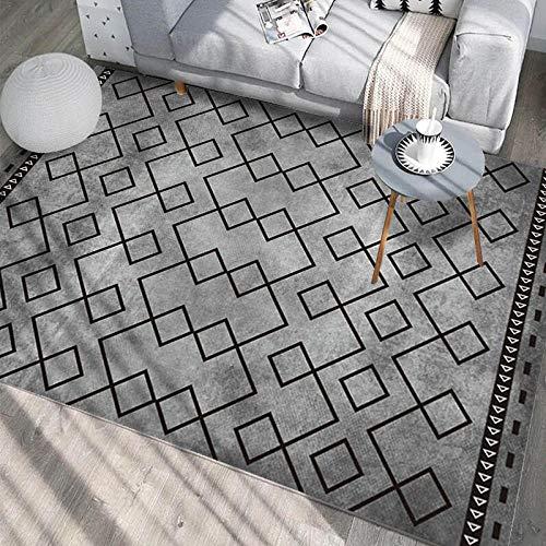 HXJHWB Alfombra Lavables Moquetas - Gris Degradado geométrico impresión 3D Alfombra Sala de Estar Estudio sofá Mesa de Centro fácil Cuidado-El 160CMx230CM